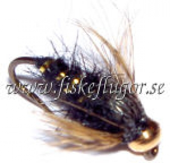 Soft Hackle BH GRHE Nymph Black