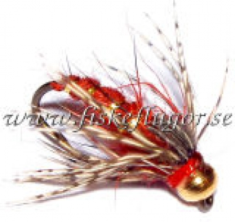Soft Hackle BH GRHE Nymph Red
