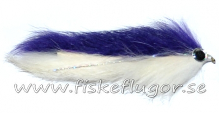 Double Bunny Streamer Purple/White