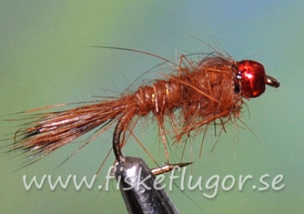 Tungsten Redhead GRHE Nymph Brown