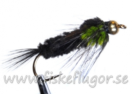 Tungsten Goldhead Montana Nymph Green