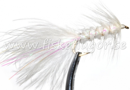 Flash Woolly Bugger White