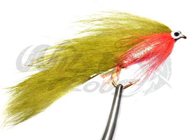 red gills Zonker white silver body  12 flies