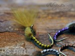 MS CDC No Hackle Emerger Golden Olive