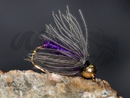 Tungsten Goldhead CDC Softhackle Nymph Purple
