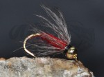 Tungsten Goldhead CDC Softhackle Nymph Red
