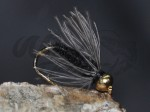 Tungsten Goldhead CDC Softhackle Nymph Black