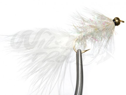 12-Pack BH Fritz Woolly Bugger White