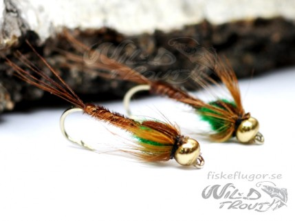 BH Pheasent Tail Nymph Green LS