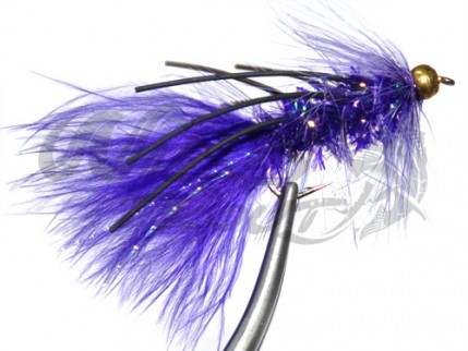 BH Fritz Woolly Bugger Rubberlegs Purple