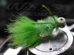 12-Pack Booby Fritz Rubberlegs Nymph Chartreuse