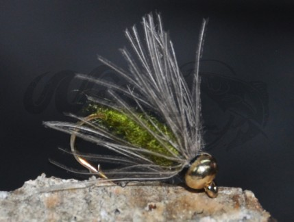 12-Pack BH CDC Softhackle Nymph Olive