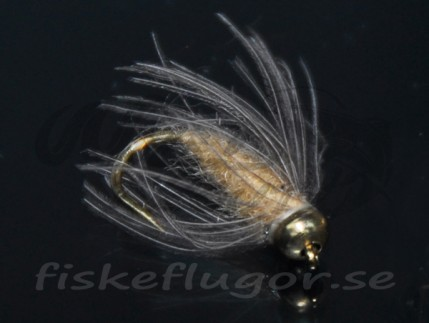 12-Pack BH CDC Softhackle Nymph Tan