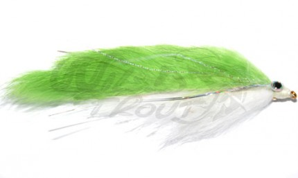 Double Bunny Streamer Green/White