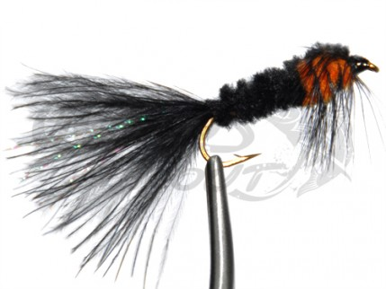 Montana Marabou Tail Black/Orange