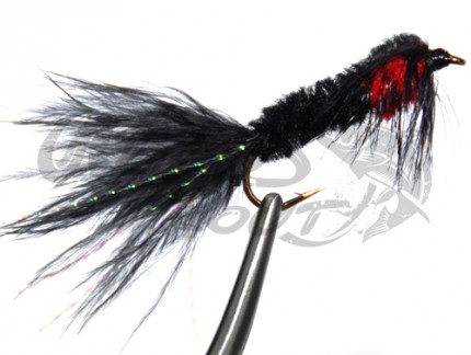 Montana Marabou Tail Black/Red
