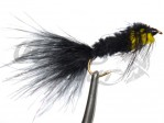 Montana Marabou Tail Black/Yellow