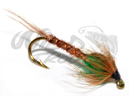 Pheasent Tail Nymph Green LS