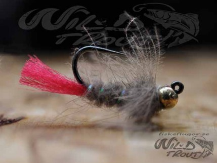 Tungsten JIG CDC Nymph Grey BL