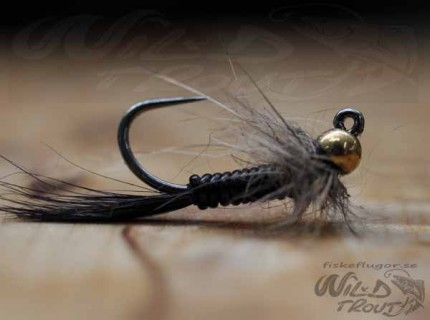 Tungsten JIG Goldhead Larvalace Nymph Black BL