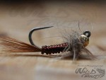 Tungsten JIG Goldhead Larvalace Nymph Brown BL