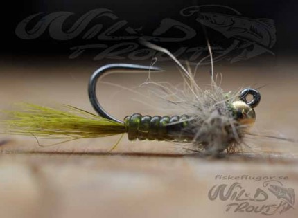 Tungsten JIG Goldhead Larvalace Nymph Olive BL