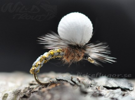 Woven Caddis Metallise Emerger Grey