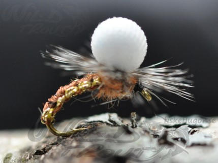 Woven Caddis Metallise Emerger Brown