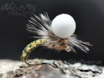 Woven Caddis Metallise Emerger Olive